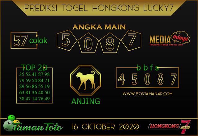 Prediksi Togel HONGKONG LUCKY 7 TAMAN TOTO 16 OKTOBER 2020