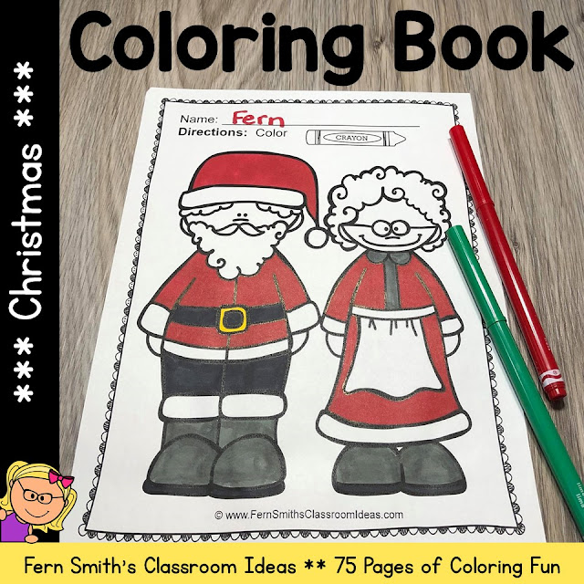 Christmas Coloring Pages - 75 Pages of Christmas Coloring Fun #FernSmithsClassroomIdeas