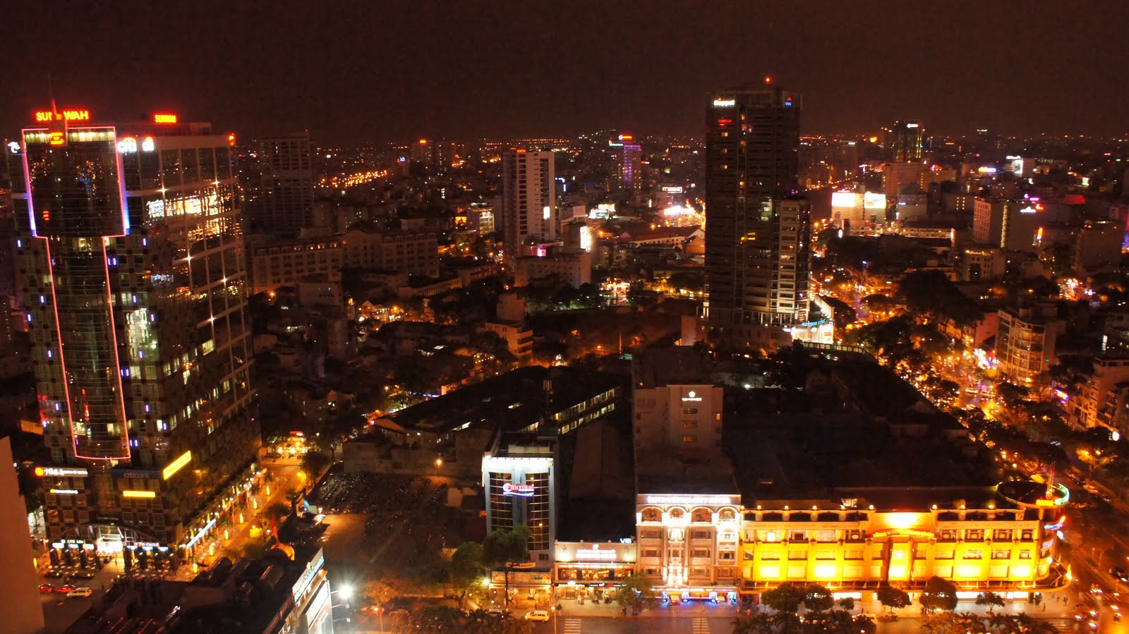 Ho Chi Minh City From The Sheraton Tower. 1600 x 899.Happy New Year Lovers Christian Birthday Wishes Blessings