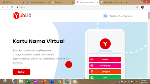 Kartu Nama Virtual