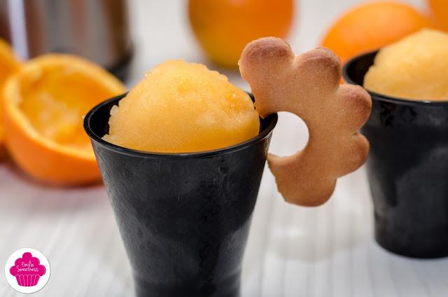 Recette facile de sorbet à l'orange - avec ou sans sorbetière