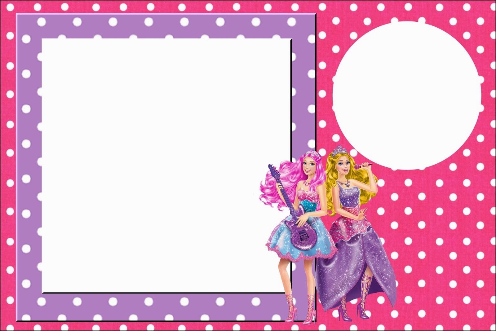 Barbie Rock Star: Free Printable Invitations. | Oh My Fiesta! in english