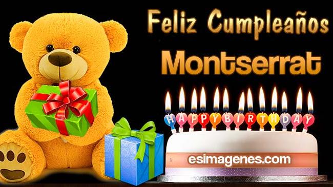 Feliz Cumpleaños Montserrat