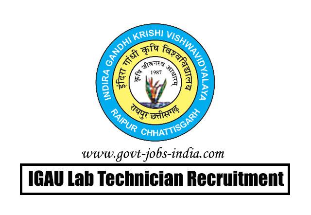 IGAU Lab Technician Recruitment 2020 – 36 Lab Technician, Assistant & Field Extension Officer Vacancy – Last Date 30 June 2020