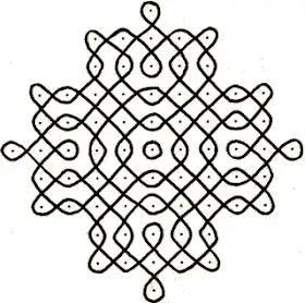 easy pattern Dot rangoli design
