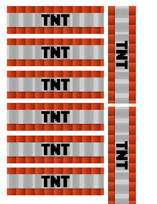 Dramatic image inside minecraft tnt printable