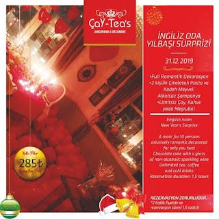 Çay Teas Lunchroom Antalya Yılbaşı Programı 2020 Menüsü