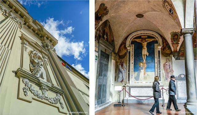 Afrescos no claustro do Mosteiro de San Marco, em Florença