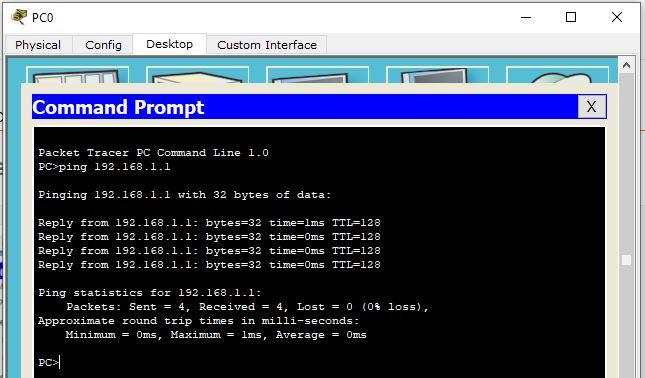 hasil cek koneksi DHCP ke server
