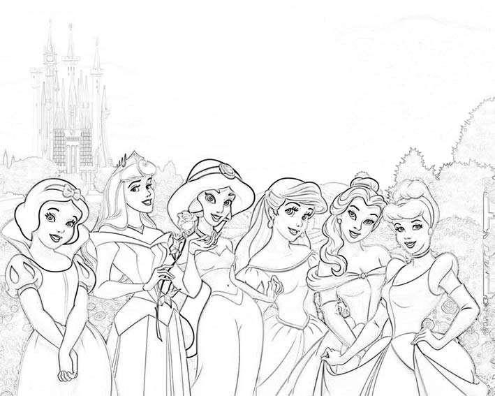 Dibujos De Princesas Para Colorear E Imprimir: O BLOG DOS BLOGS: DESENHOS PARA IMPRIMIR E COLORIR