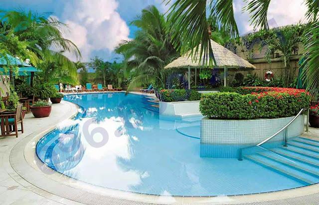 Bể bơi ngoài trời chung cư garden hill - 99 trần bình