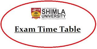 APG Shimla University Exam Date Sheet 2020