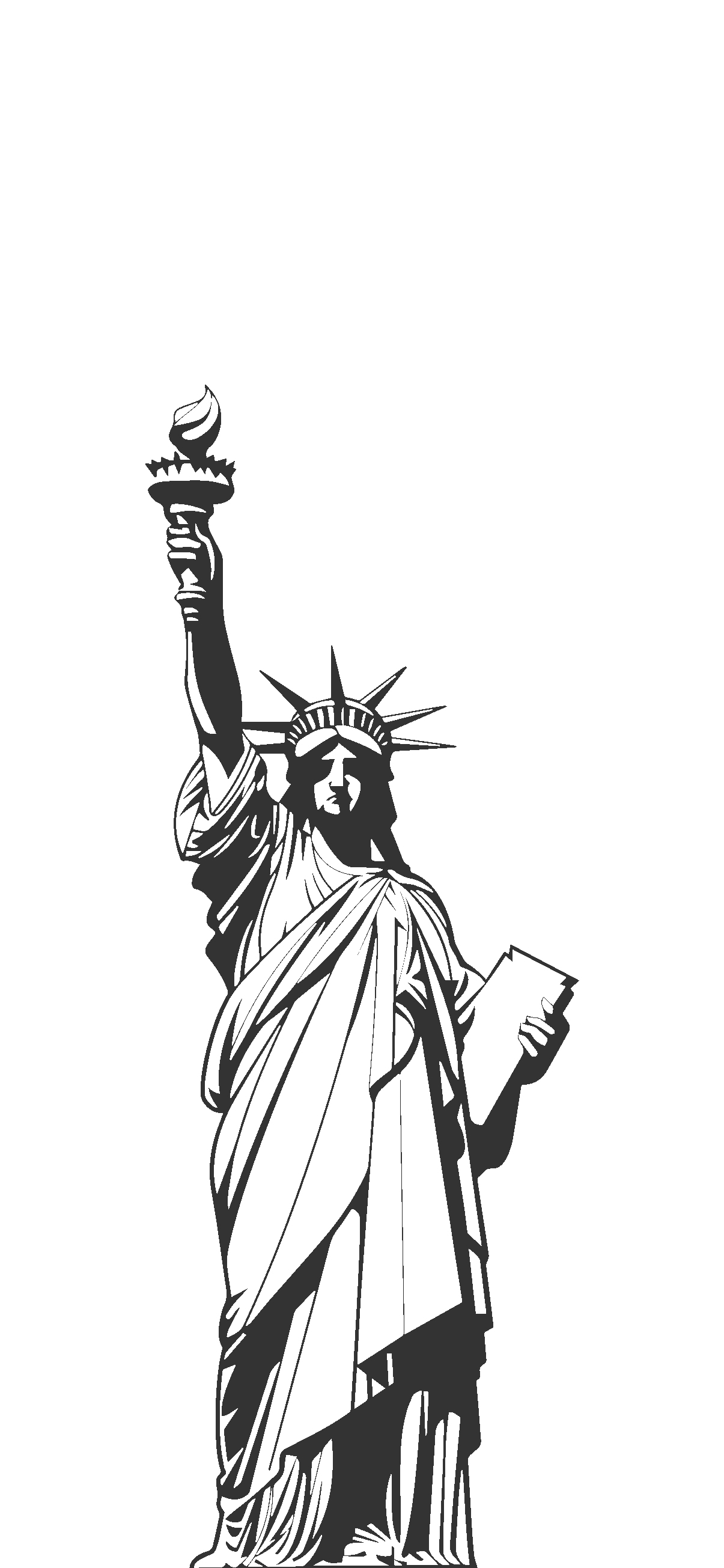 Statue of Liberty wallpaper white