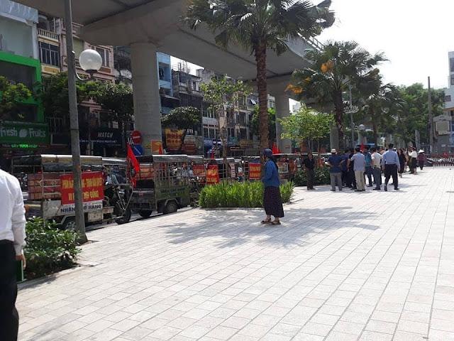 """Trụ sở FLC và Bamboo 265 Cầu Giấy đang bị vây rất căng, lực lượng """"đặc biệt"""" xuất hiện"""