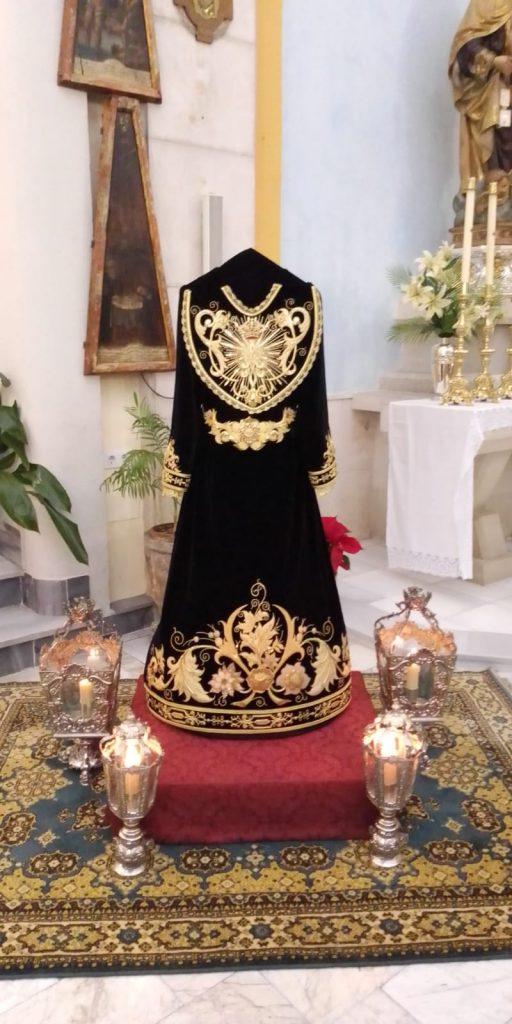 Bendecida la nueva saya para Santa María del Silencio de Jaen