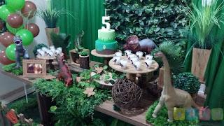 Decoração festa infantil Dinossauros Jurassic World