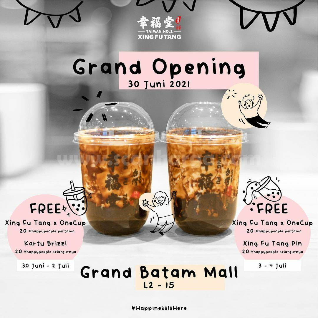 Xing Fu Tang Batam Opening Promo Gratis Tumbler