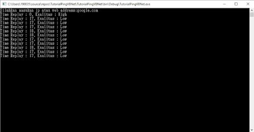 ping jaringan menggunakan vb.net
