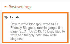 How To Add Label Or Meta Tag In Blogger