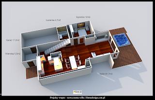 projekty domów - nowoczesna willa