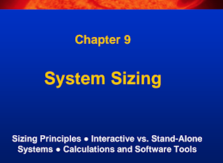 Learn Solar PV Systems:9-System Sizing
