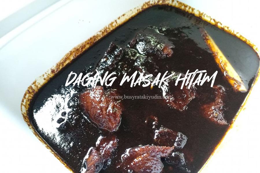 resepi mudah, resepi daging masak hitam, daging masak hitam, daging masak pedas, cili kering, jintan manis, daging masak hitam berempah,