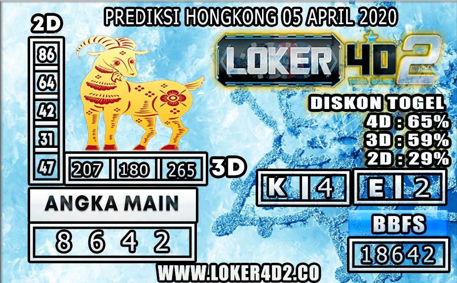 PREDIKSI TOGEL HONGKONG LOKER4D2 05 APRIL 2020