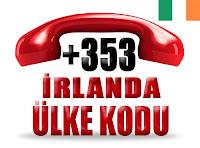 +353 İrlanda ülke telefon kodu