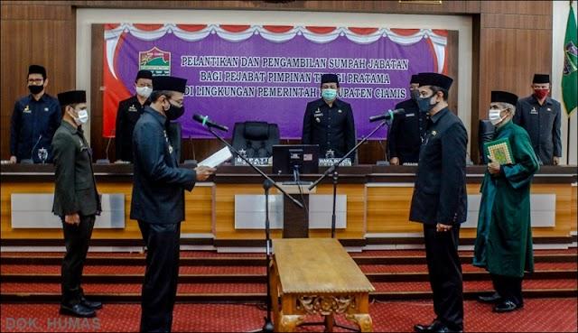 Gantikan HM Soekiman, Dadang Darmawan Dilantik sebagai Kepala BPBD Ciamis