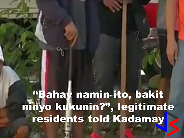 """A group claiming to be advocates of homeless urban poor  that called themselves """"Kadamay"""" (Kalipunan ng Damayang Mahihirap) has invaded  a government housing project in Pandi,Bulacan and occupied the vacant units without authorization from the NHA.   Earlier this week  the group also tried to occupy a housing project in Bocaue, also in Bulacan but the residents defended their neighborhood . As the Kadamay members caravan  approach their village, they made human barricades and cordon the area. An argument heated between the Kadamay members and the homeowners but the police were there and taken control of the situation. Kadamay members flee as the homeowners watch them but they said the fight is not over yet . The police personnel stayed even the situation has suppressed. Maximum tolerance was observed during handling the stand-off situation.  Before the standoff, the police and the residents had an intelligence report that a large number Kadamay members are their on their way to their village to occupy vacant unit at Bocaue Hills where legitimate house awardees are living. Being knowledgeable about what they earlier did to the nearby town of Pandi, the residents prepared themselves and even cancelled the classes for the threat. They gathered at the entrance with sticks, paddles and baseball bats just in case the situation get to worse.     An eviction order was released by the National Housing Authority ordering the kadamay members who illegally occupied a housing project in Pandi, Bulacan. 600 eviction notices had been serves for the members of kadamay who occupied the vacant housing units without permit at the Villa Elisa resettlement area. about 324 units was occupied by Kadamay out of the total 1,242 units. The eviction notices are posted on doors and walls of the occupied units by NHA representatives. Some 198 eviction notices was also served by the NHA representatives with the help of the PNP, this time at San Jose Del Monte Heights in San Jose Del Monte, Bulac"""