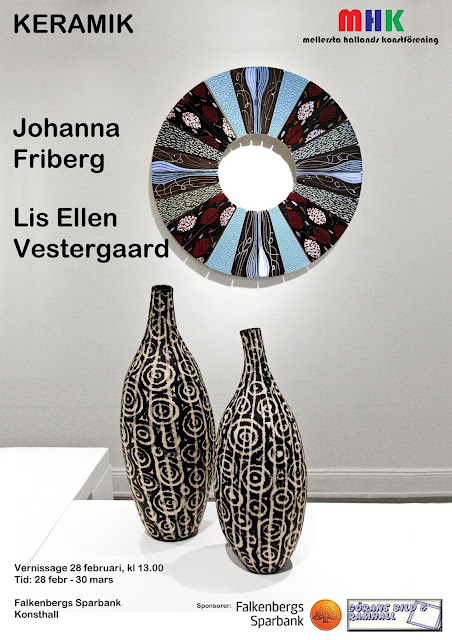 keramik konstutställning keramiker formgivare designer johanna friberg lis ellen vestergaard