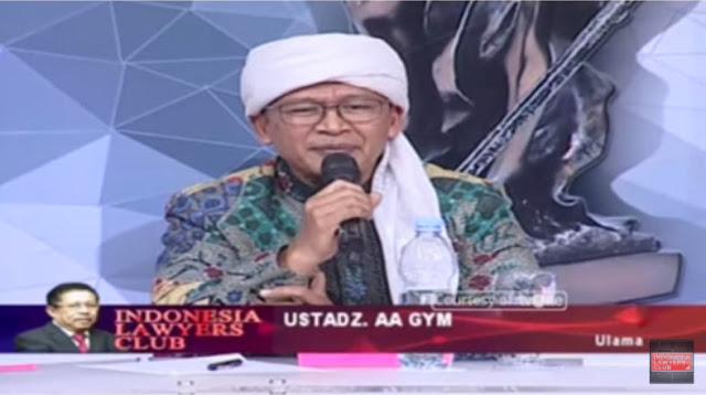 Di ILC,  Aa Gym: Rugi Besar Bangsa ini Kalau Umat Islam Sudah Merasa tak Aman di Negeri Ini