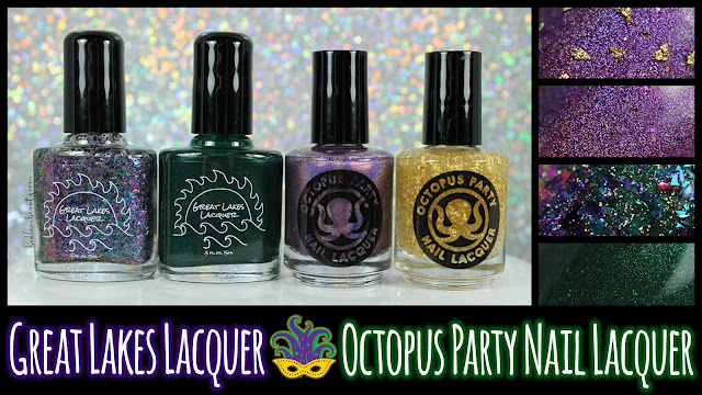 Octopus Party Nail Lacquer + Great Lakes Lacquer | Mardi Gras 2017