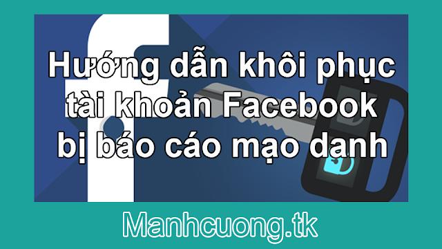 Hướng dẫn khôi phục tài khoản Facebook bị báo cáo mạo danh
