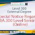 Special Notice Regarding BA 300 Level Seminars (Online)