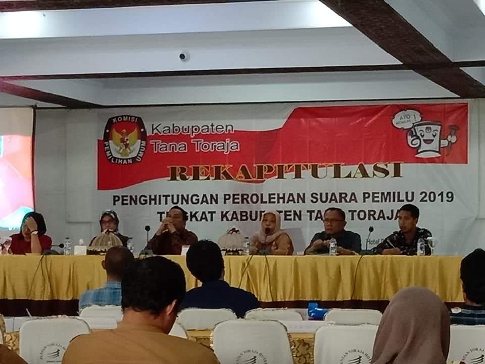 Rapat Pleno Rekapitulasi KPU Tana Toraja Sudah Mulai, Hingga 1 Mei 2019