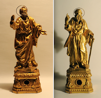 Italian Reliquary Busts and Statues of Ss. Peter and Paul