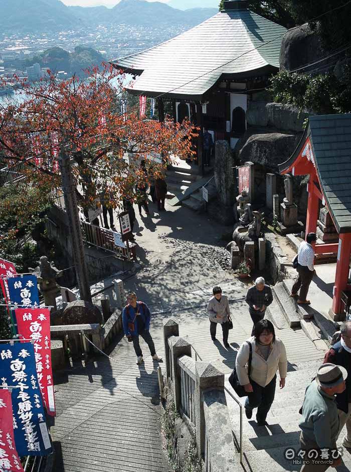 Escalier du temple Senko-ji, Onomichi, Hiroshima
