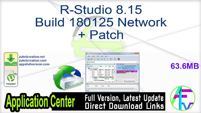 R-Studio 8.15 Build 180125 Network + Patch