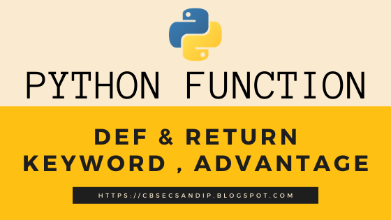 def and return keywords in python
