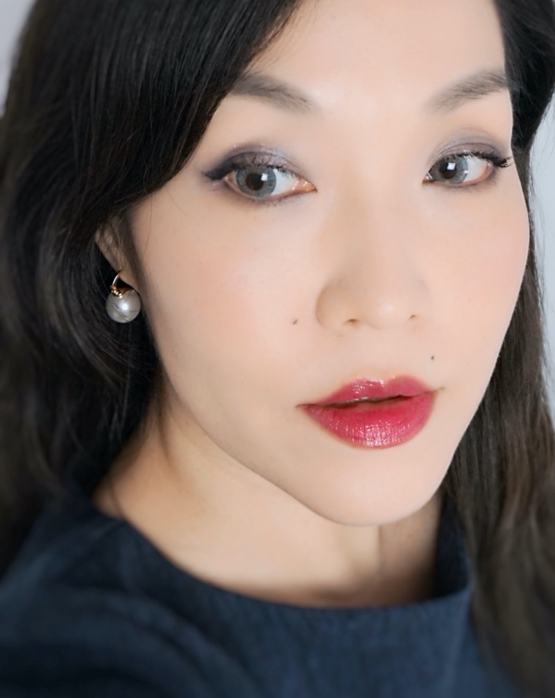 Suqqu Extra Glow Lipstick 09 Midnight Berry (Yoikajitsu) swatch look