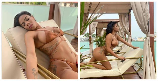 Venita Akpofure flaunts her body as she shares new photos of herself (Photos)