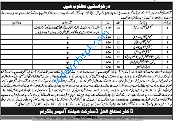 Department of Health New Jobs in KPK DHO September 2019