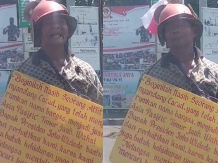 VIRAL! Atlet Penyandang Disabilitas Pernah Harumkan Nama Indonesia Minta Bantuan Jokowi di Lampu Merah
