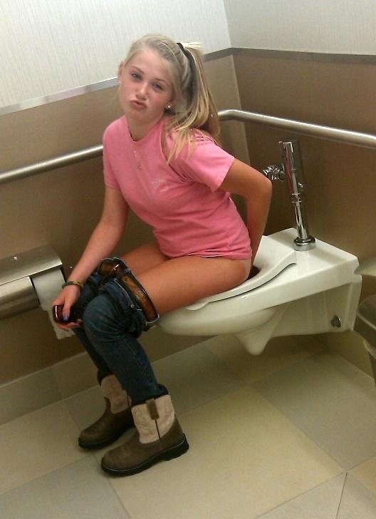 Girl Desperate Pees Panties