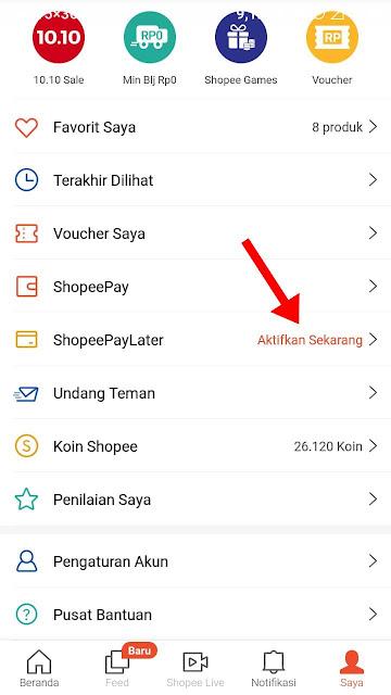 Cara Aktivasi Shopee Paylater Terbaru 2021 dengan Cepat Sampai Berhasil