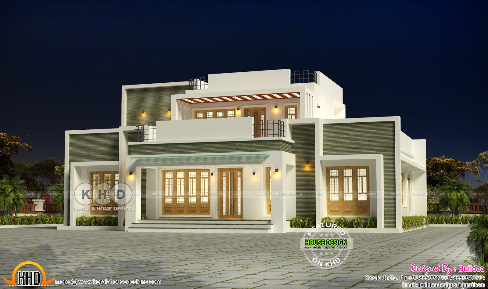 2155 Square Feet Modern Flat Roof House Design Kerala Home Design Bloglovin