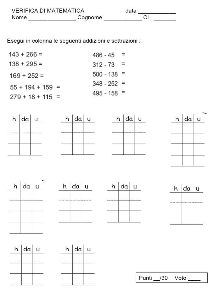 Diario di scuola e... non solo: Verifiche matematica