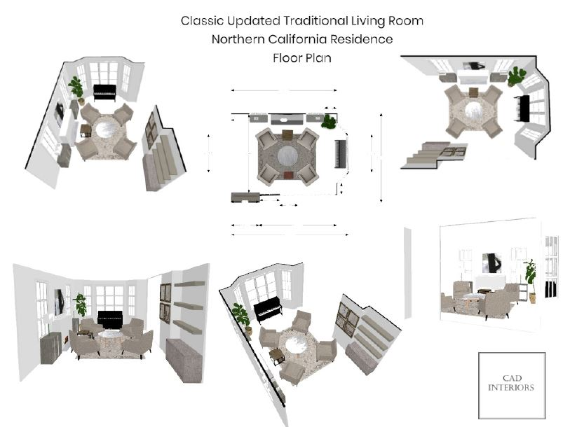 CAD Interiors interior design e-design online design decorating space plan furniture layout