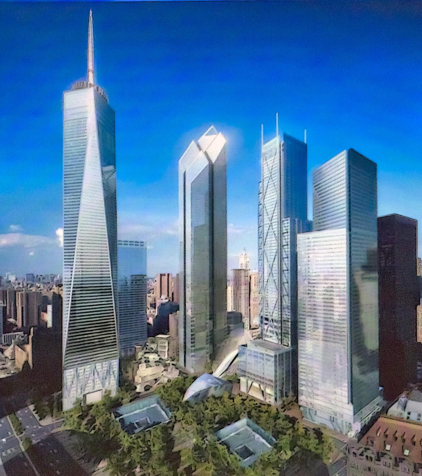 wie groß war das world trade center